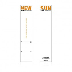 Cenzaa 365° Sun Protection Labels 10st