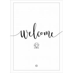 "Cenzaa ""Welcome"" Stoepbordposter [620x870]"