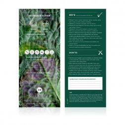 Food Lab Voedingskaart Allergie / Eczeem 10st.