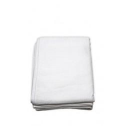 Wit Wafeldeken Dubbel [badstof] 150x220
