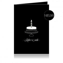 """Cenzaa Dubbele Wenskaart """"Make a Wish"""" 10st"""
